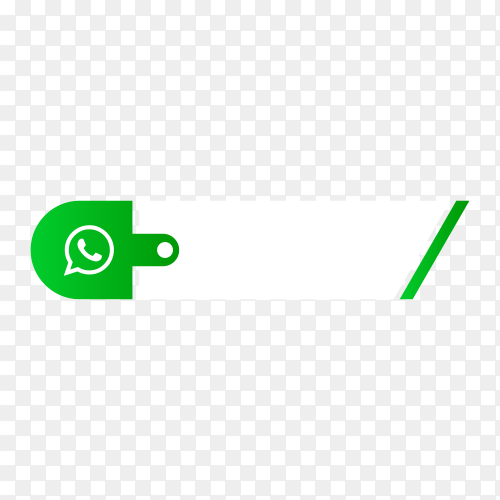Whatsapp lower third icon on transparent background PNG