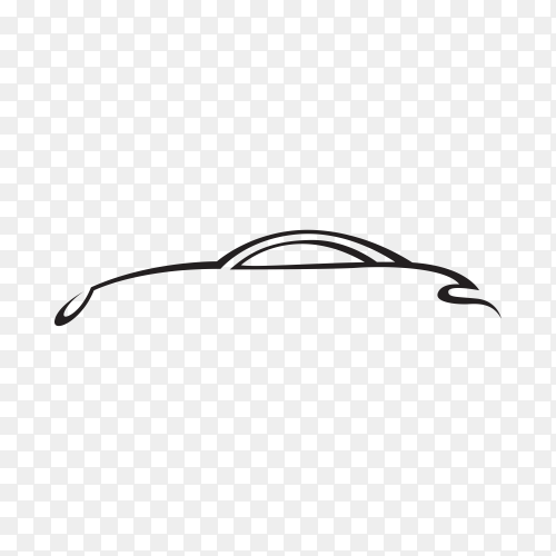 White silhouette car isolated premium vector  PNG