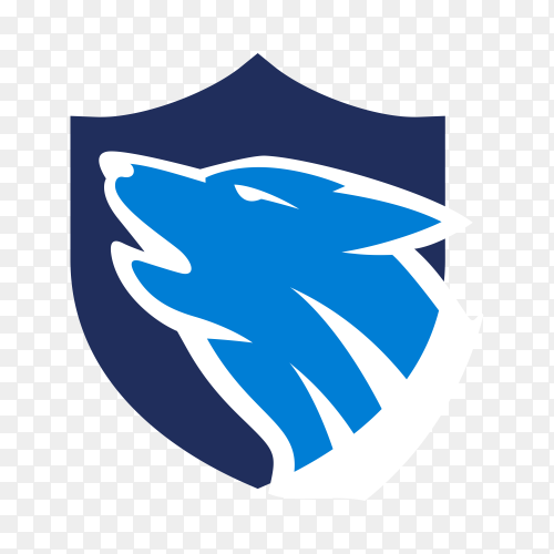 Wolf logo esport design on transparent background PNG