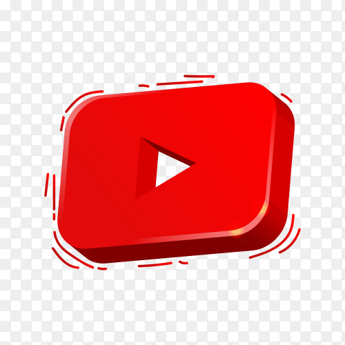 YouTube icon with colorful design on transparent background PNG