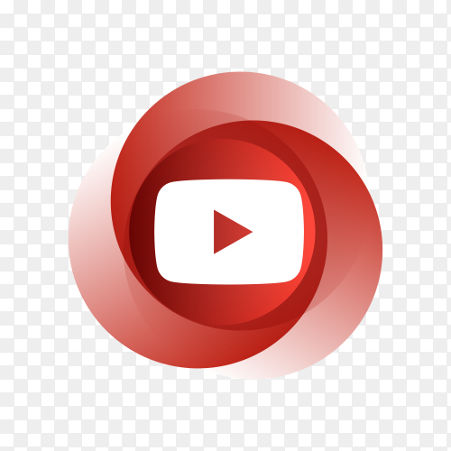YouTube icon with colorful design premium vector PNG