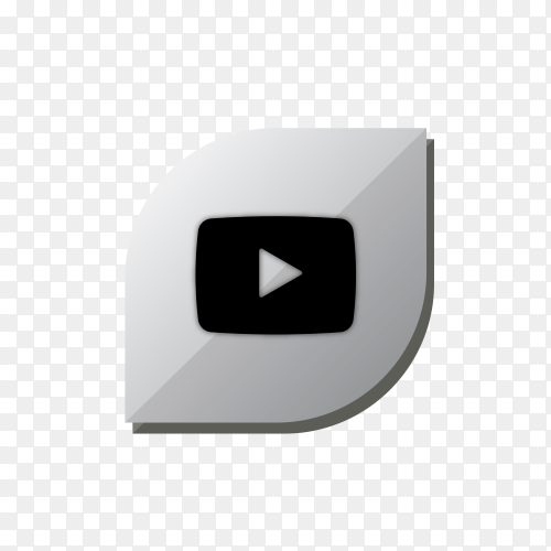 YouTube icon design isolated on transparent background PNG
