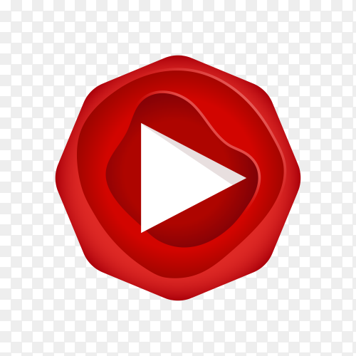 YouTube logo design on transparent background PNG