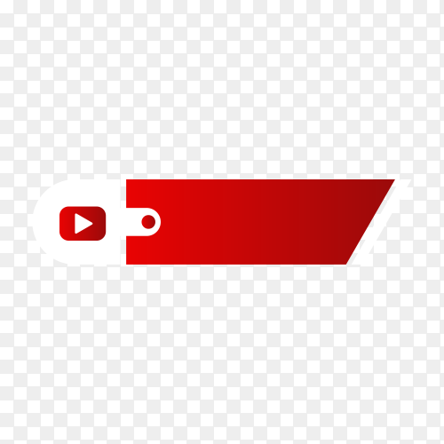 Youtube lower third icon isolated on transparent background PNG