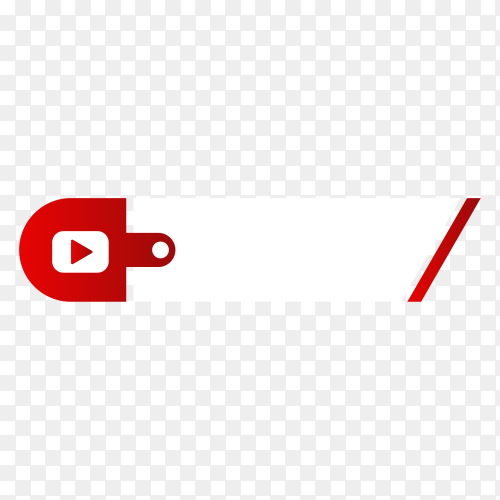 Youtube lower third icon on transparent background PNG