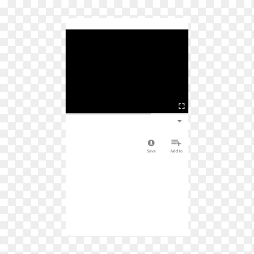 YouTube video player template on transparent background PNG