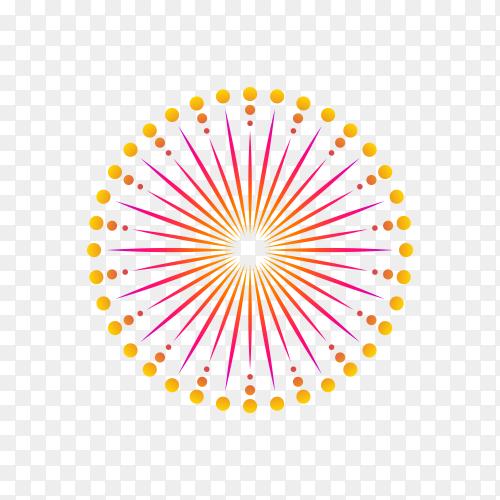 firework to happy celebration event on transparent background PNG