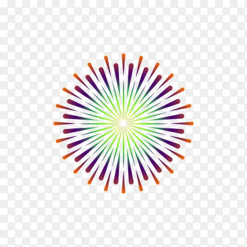 Firework to happy celebration event premium vector PNG