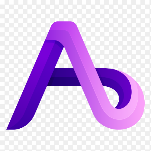 A letter logo template on transparent background PNG