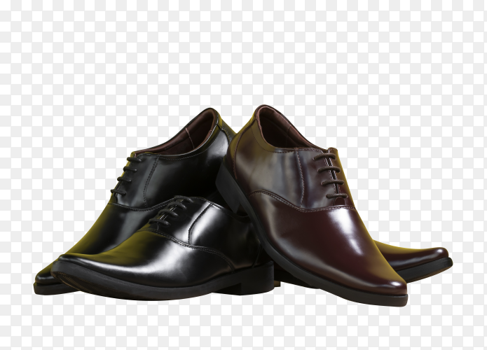 A lot of men's shoes on transparent background PNG