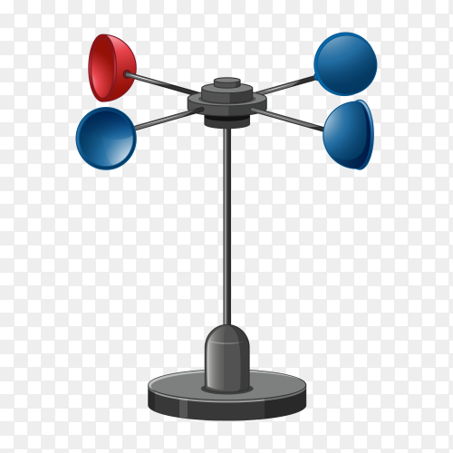 Anemometer isolated on transparent background PNG
