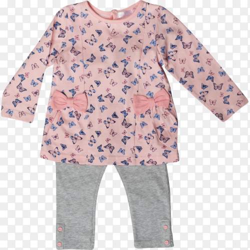 Baby clothes isolated on transparent PNG