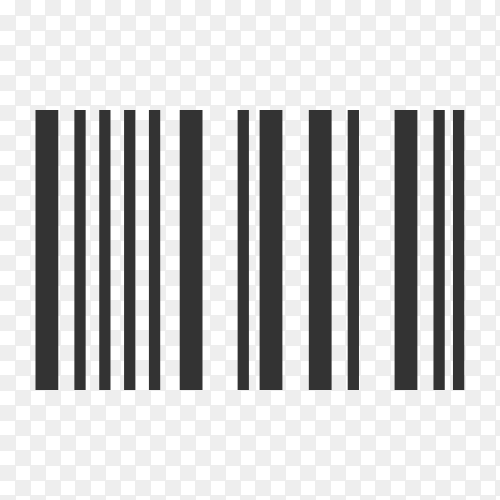 Barcode. Supermarket scan code bar and qr code, industrial barcode price black label realistic isolated premium vector PNG
