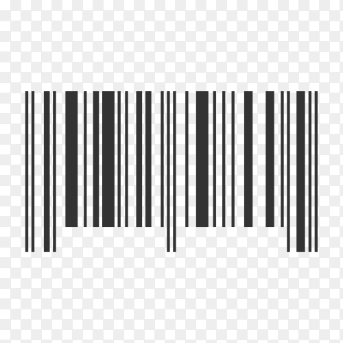 Barcode And Qr Code Sticker on transparent background PNG