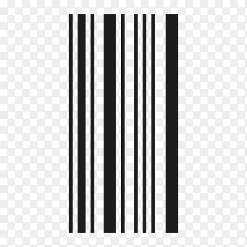 Barcode icon isolated on transparent background PNG