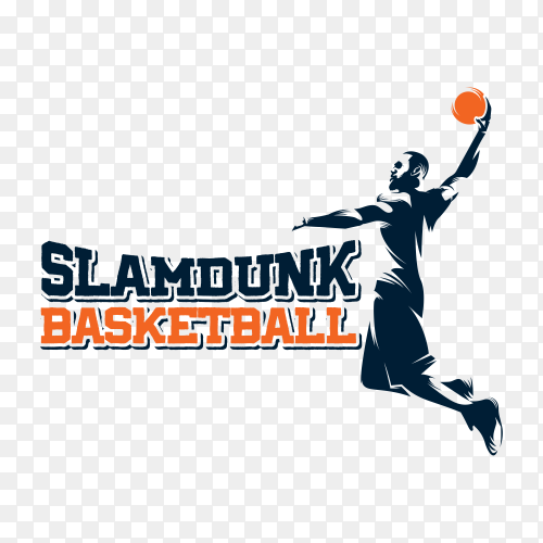 Basketball logo isolated on transparent background PNG