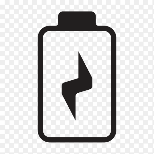 Battery Charging icon on transparent background PNG