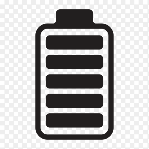Battery charge level on transparent background PNG