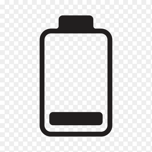 Battery icon illustration on transparent background PNG