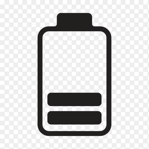 Battery icon on transparent background PNG