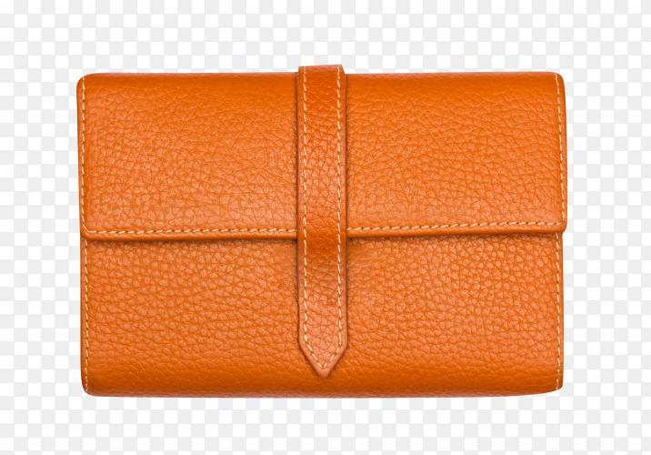 Big brown purse on transparent background PNG