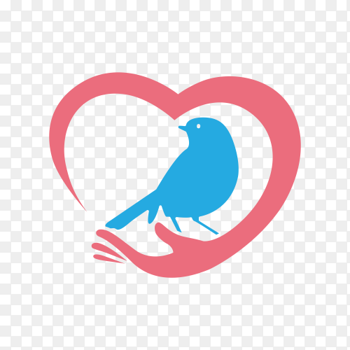 Bird logo isolated on transparent background PNG