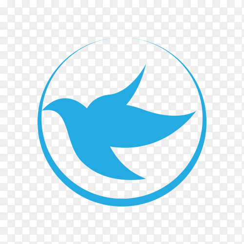 Bird logo template on transparent background PNG
