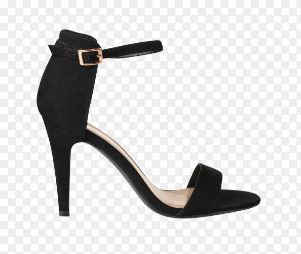 Black Beautiful fashion elegance and luxury high heel isolated on transparent background PNG
