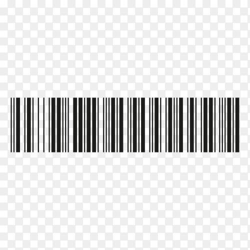 Black barcode icon. Symbol about shopping concept on transparent background PNG
