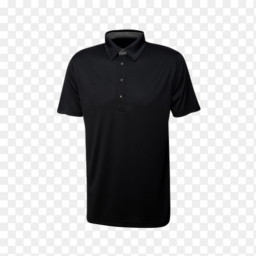 Black t-shirt isolated on transparent background PNG