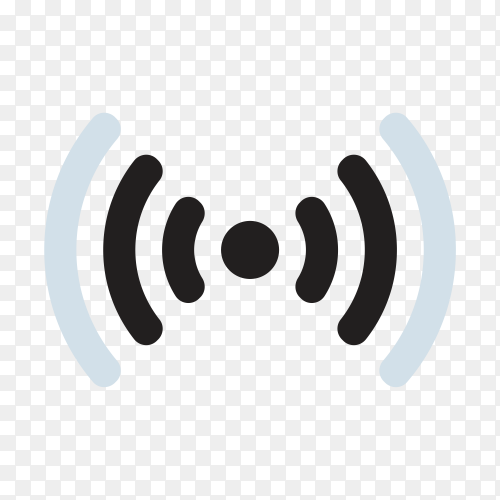 Black wireless icon template on transparent background PNG