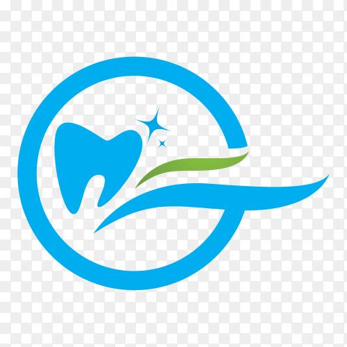 Blue Dental logo on transparent background PNG