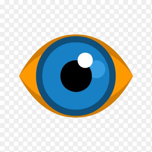 Blue Eye icon logo on transparent background PNG