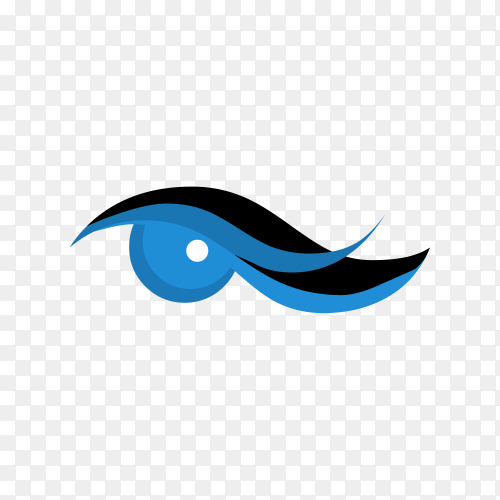 Blue eye icon on transparent background PNG