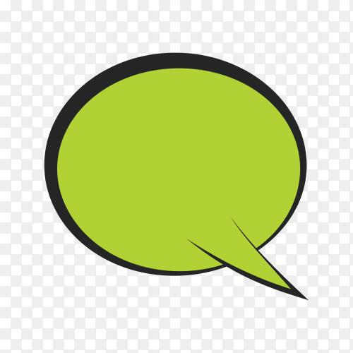 Bright colored speech bubble premium vector PNG