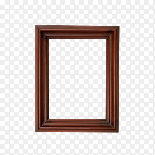 Brown frame isolated on transparent background PNG