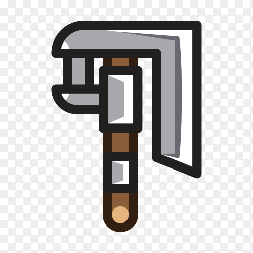 Cartoon Hand drawn Axe for creating video game Clipart PNG