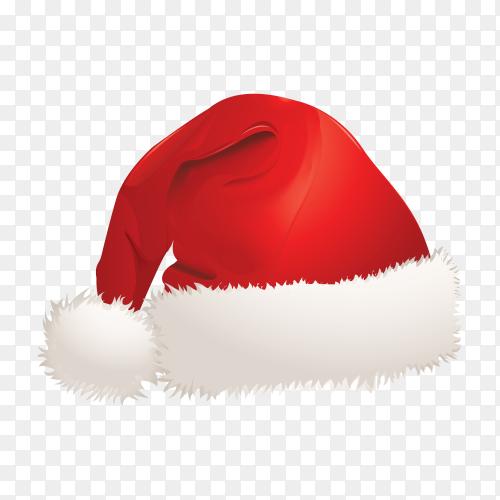 Cartoon Santa Claus hat illustration on transparent background PNG…png