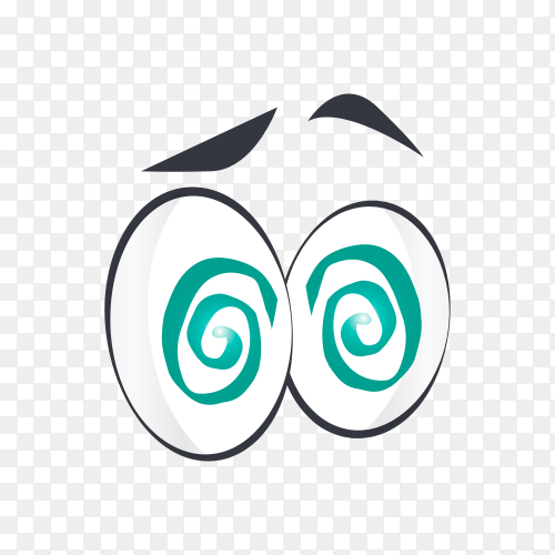 Cartoon eye isolated on transparent background PNG