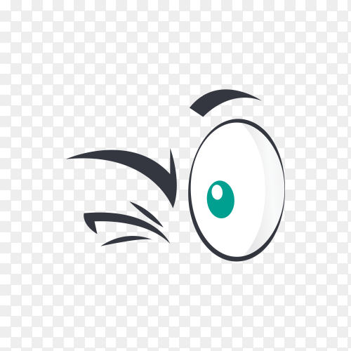 Cartoon eyes emotion character isolated premium vector PNG