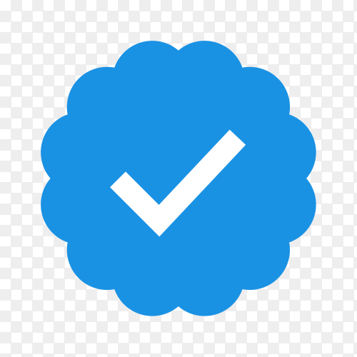 Check mark icon isolated on transparent background PNG