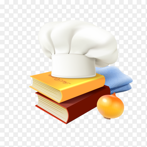Chef and cooking concept on transparent background PNG