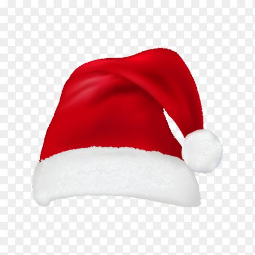 Christmas hat illustration on transparent background PNG.png