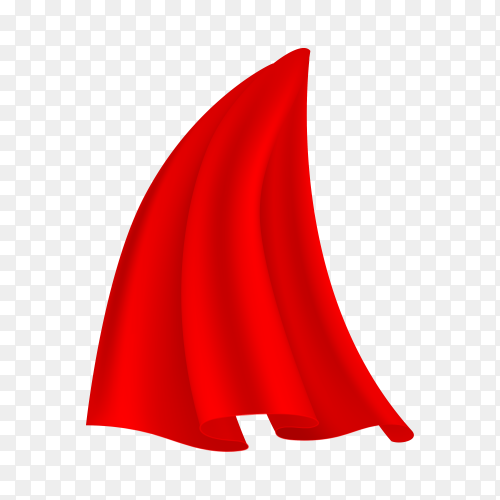 Cloak in red color isolated on transparent background PNG