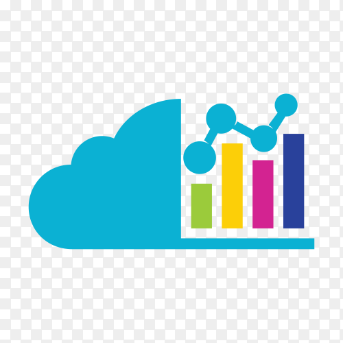 Cloud investment logo on transparent background PNG