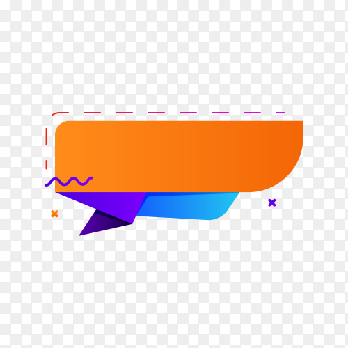 Colorful banner design premium vector PNG