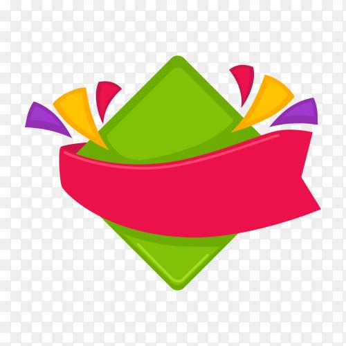 Colorful blank banner illustration on transparent background PNG