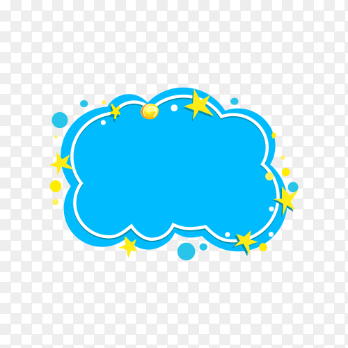 Colorful speech bubble in flat icon  on transparent background PNG