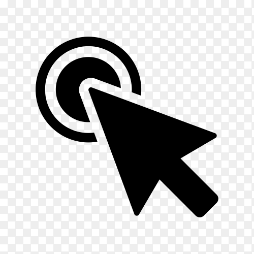 Computer mouse click cursor gray arrow icon . illustration on transparent background PNG