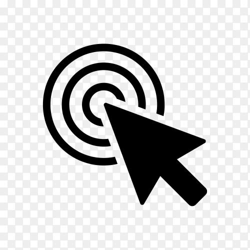 Computer mouse click cursor gray arrow icon premium vector PNG